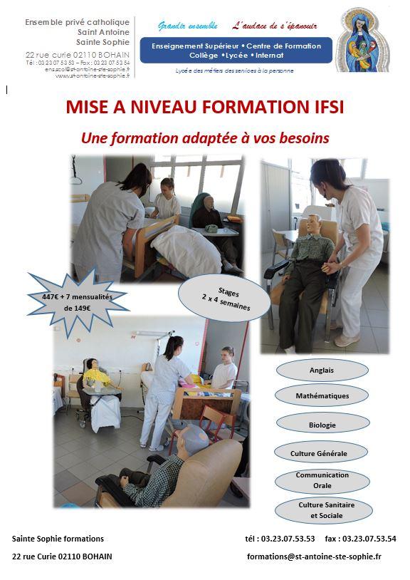 Site Mise à niveau IFSI